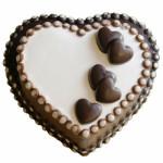 1kg Heart Chocolate Cake