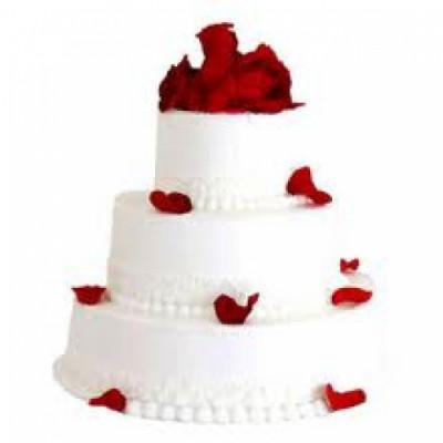 3 tier vanila cake(3.5 kgs)