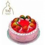 1 kg fresh strawberry cake from 5 star bakery