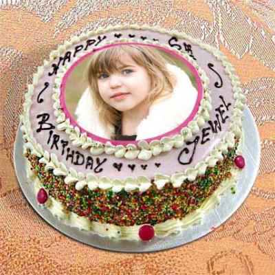 Photo Cake Vanilla Sponge