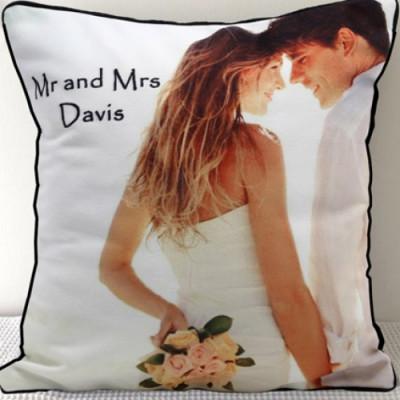 Mr N Mrs Personalized Cushion