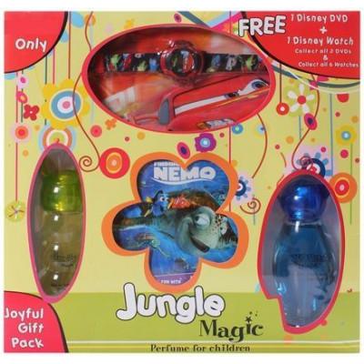 Jungle Magic Joyful Children Perfume Gift Pack with 1 Disney DVD and Disney Watch