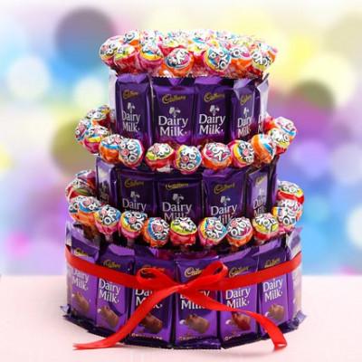 3 Tier Choco Pop Cake