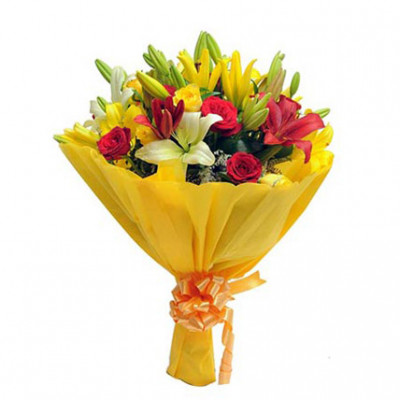 Mixed Roses N Lilies