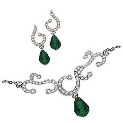 Bela Tanmaniya Set of Necklace and Earring from Avon